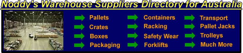Noddy's Warehouse Suppliers Directory for Sydney Melbourne Adelaide and Brisbane
